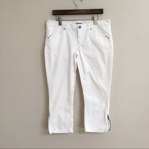 Express White Capri Pants